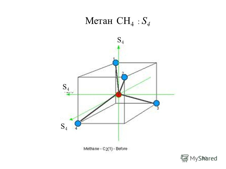10 Метан CH 4 : S 4 S4S4 S4S4 S4S4