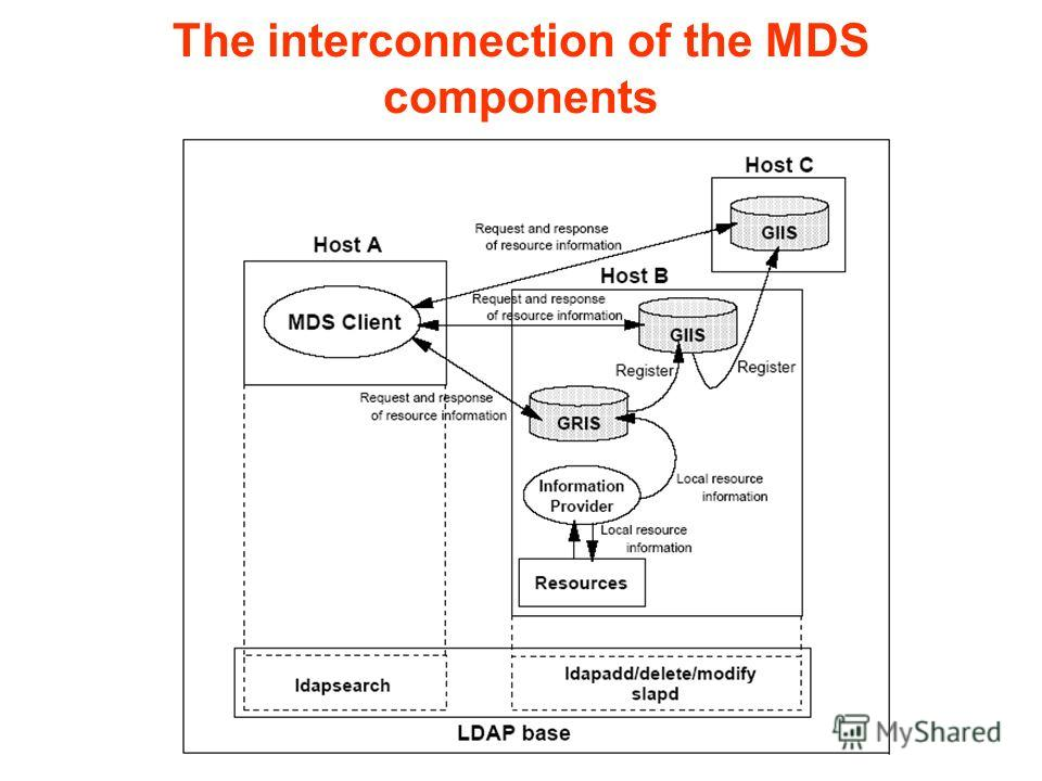 The interconnection of the MDS components