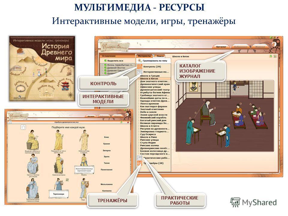 ИНТЕРАКТИВНЫЕ МОДЕЛИ Интерактивные модели, игры, тренажёры ПРАКТИЧЕСКИЕ РАБОТЫ КАТАЛОГ ИЗОБРАЖЕНИЕ ЖУРНАЛ КАТАЛОГ ИЗОБРАЖЕНИЕ ЖУРНАЛ ТРЕНАЖЁРЫ КОНТРОЛЬ МУЛЬТИМЕДИА - РЕСУРСЫ