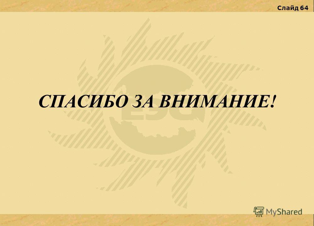 Слайд 64 СПАСИБО ЗА ВНИМАНИЕ!