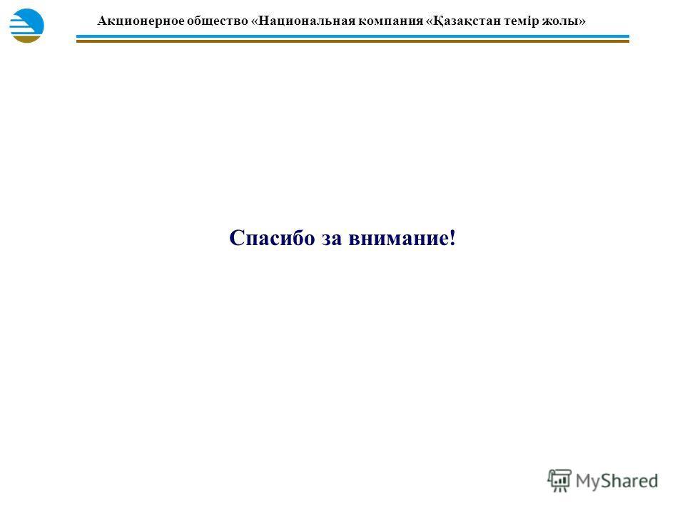 Акционерное общество «Национальная компания «Қазақстан темiр жолы» Спасибо за внимание!