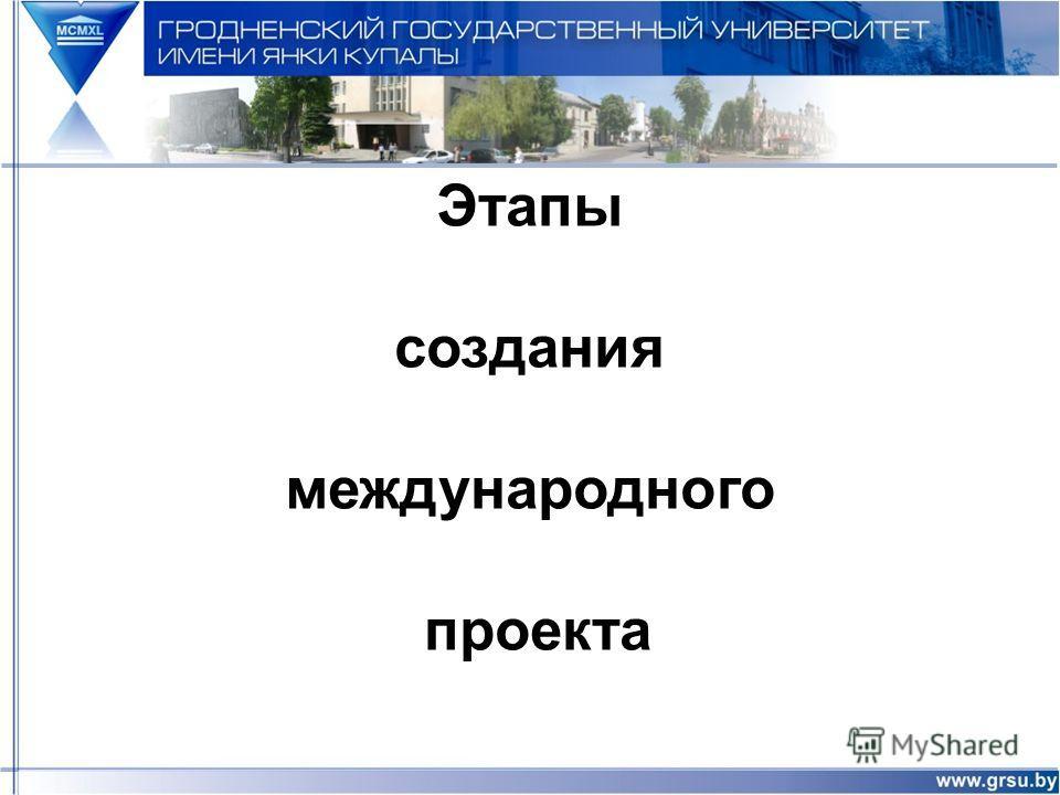 Этапы создания международного проекта