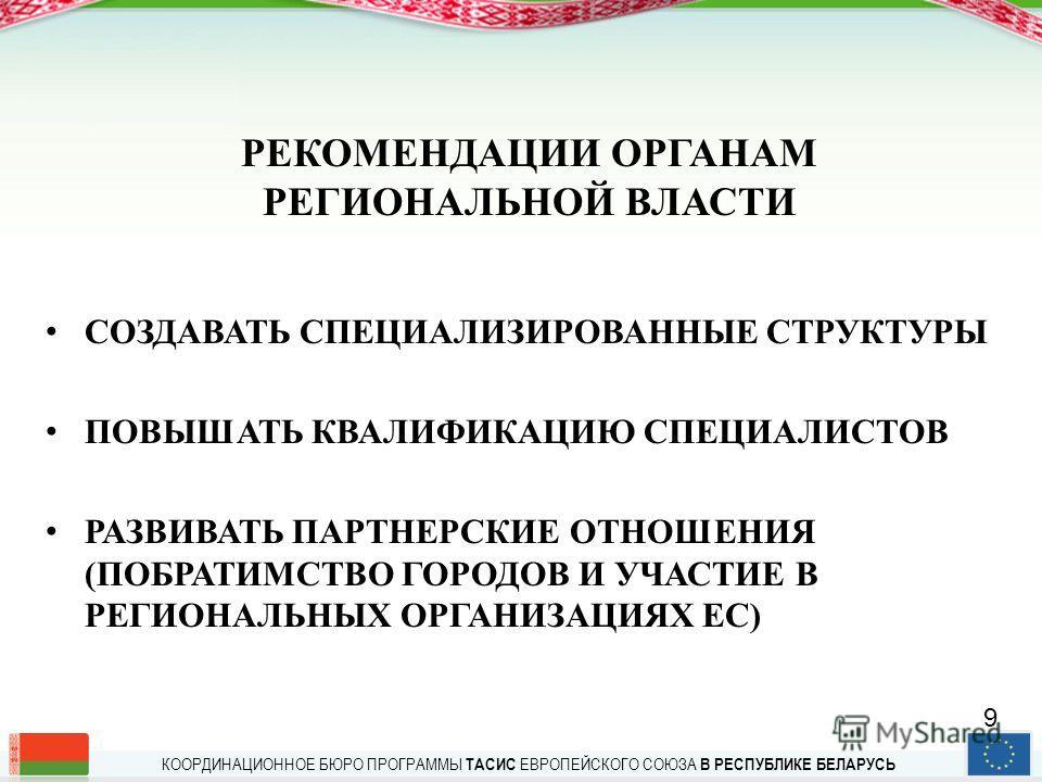 КООРДИНАЦИОННОЕ БЮРО ПРОГРАММЫ ТАСИС ЕВРОПЕЙСКОГО СОЮЗА В РЕСПУБЛИКЕ БЕЛАРУСЬ ПРОГРАММЫ ТРАНСГРАНИЧНОГО СОТРУДНИЧЕСТВА Регион Балтийского моря – 236, 6 млн. ЕВРО, из них для Беларуси–22, 6 млн. ЕВРО Польша-Беларусь-Украина –41, 7 млн. ЕВРО Латвия-Лит