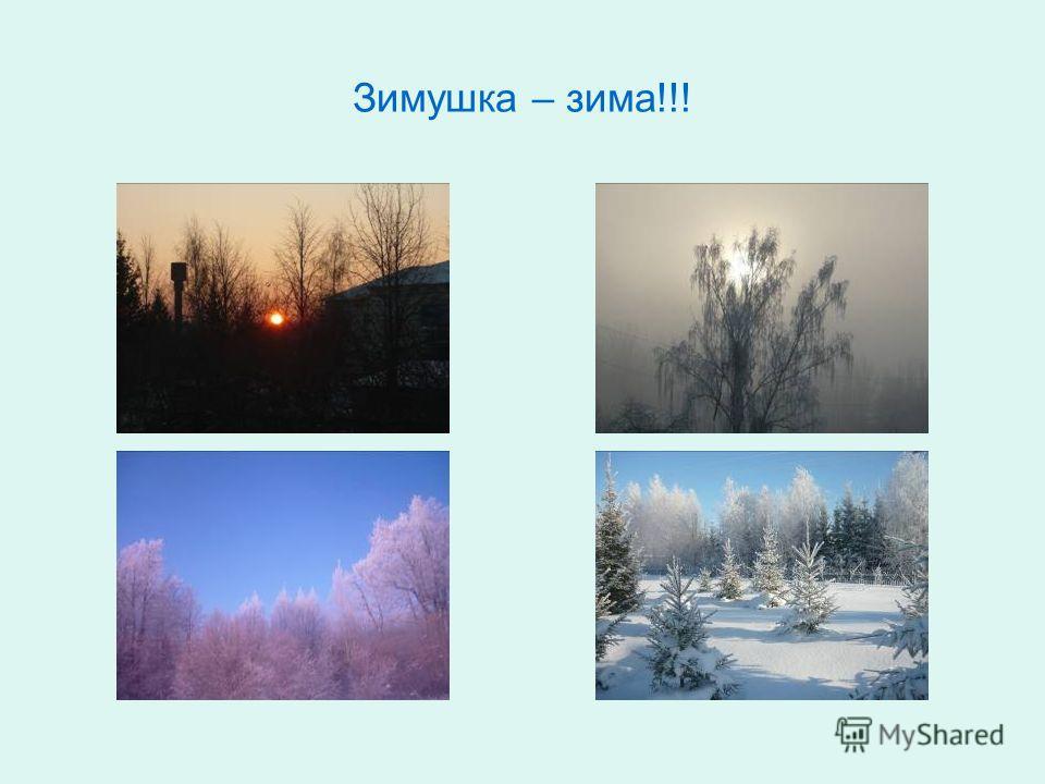 Зимушка – зима!!!