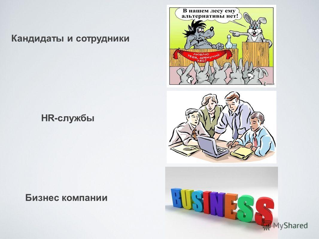 Бизнес компании Кандидаты и сотрудники HR-службы