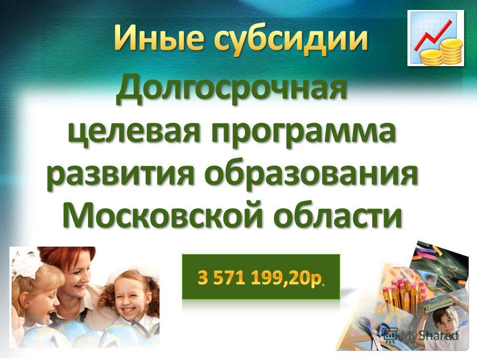 Долгосрочная целевая программа развития образования Московской области