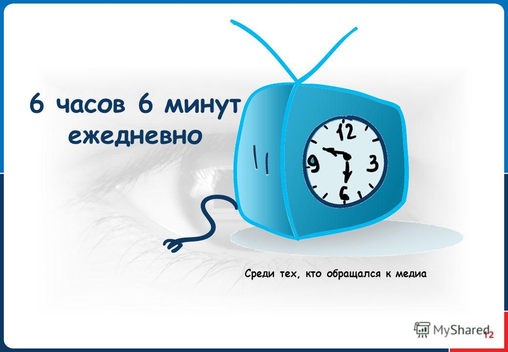 12 6 часов 6 минут ежедневно Среди тех, кто обращался к медиа