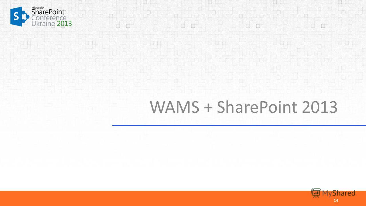 WAMS + SharePoint 2013 14