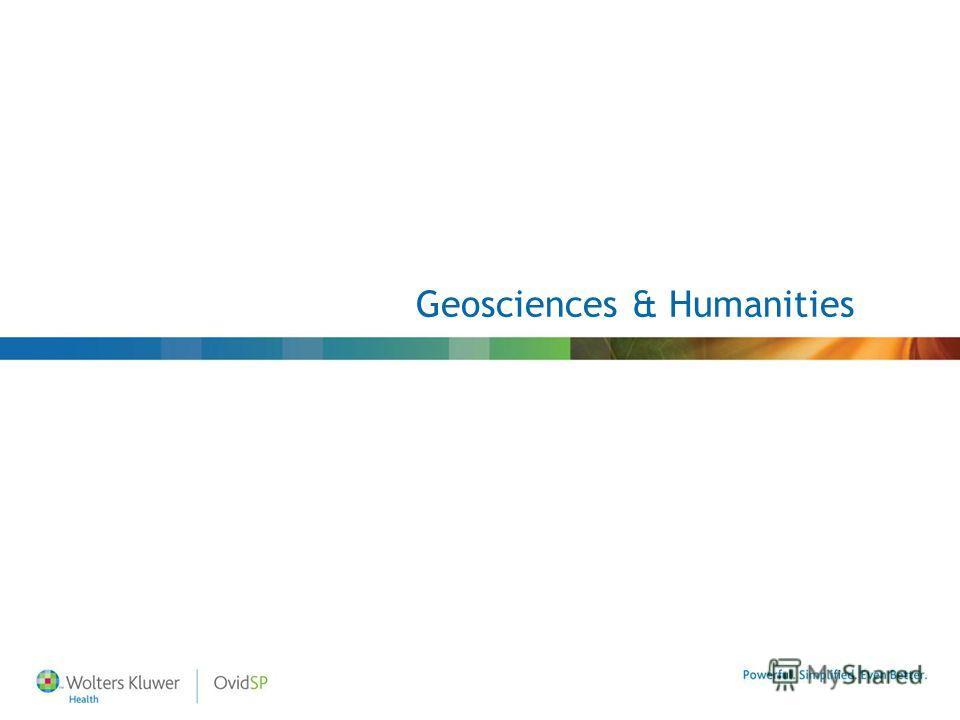 Geosciences & Humanities