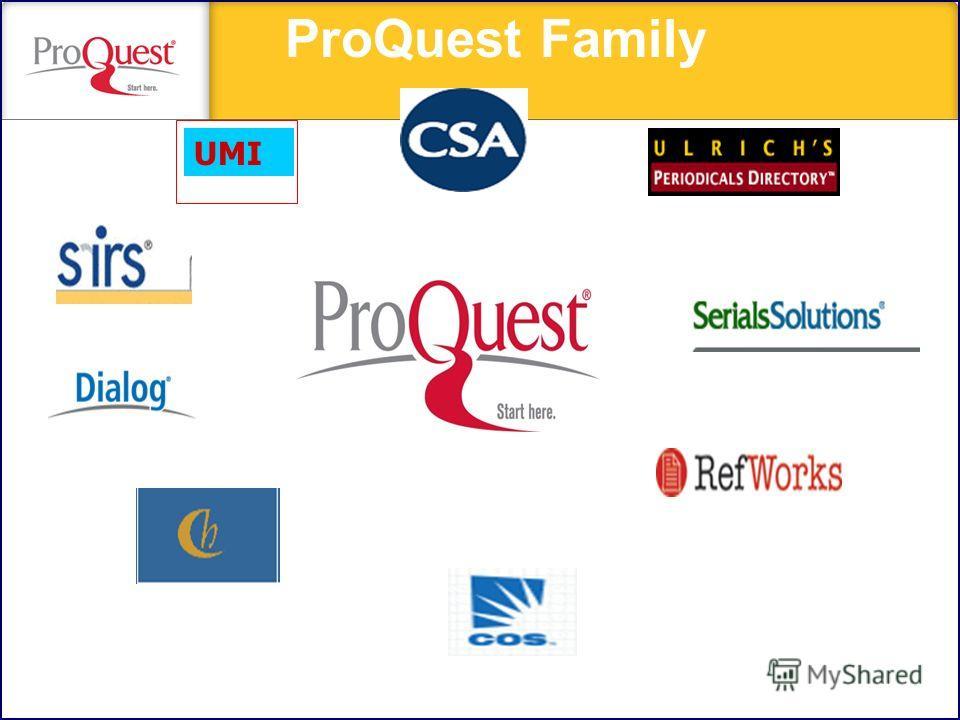 UMI ProQuest Family