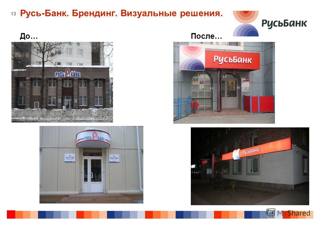 13 Русь-Банк. Брендинг. Визуальные решения. До…После…