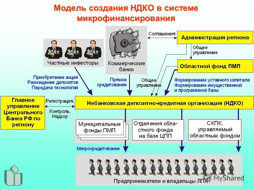 Модель создания НДКО в системе микрофинансирования