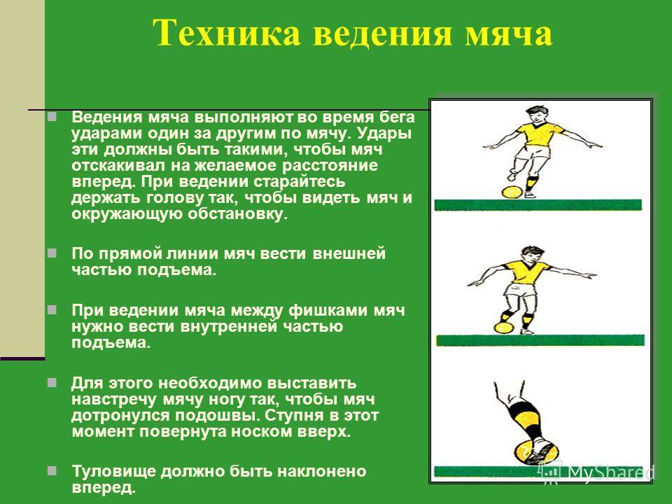 Ведение мяча в футболе теория