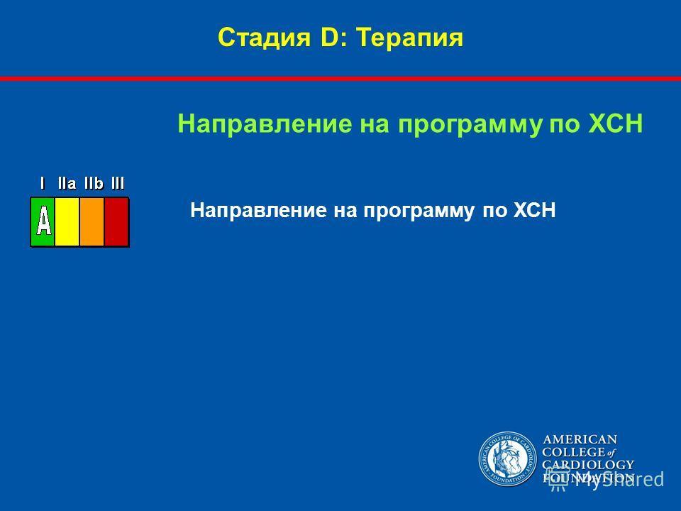 Направление на программу по ХСН Стадия D: Терапия Направление на программу по ХСН
