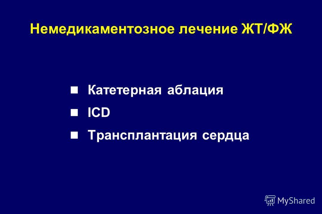 Катетерная аблация ICD Трансплантация сердца Немедикаментозное лечение ЖТ/ФЖ