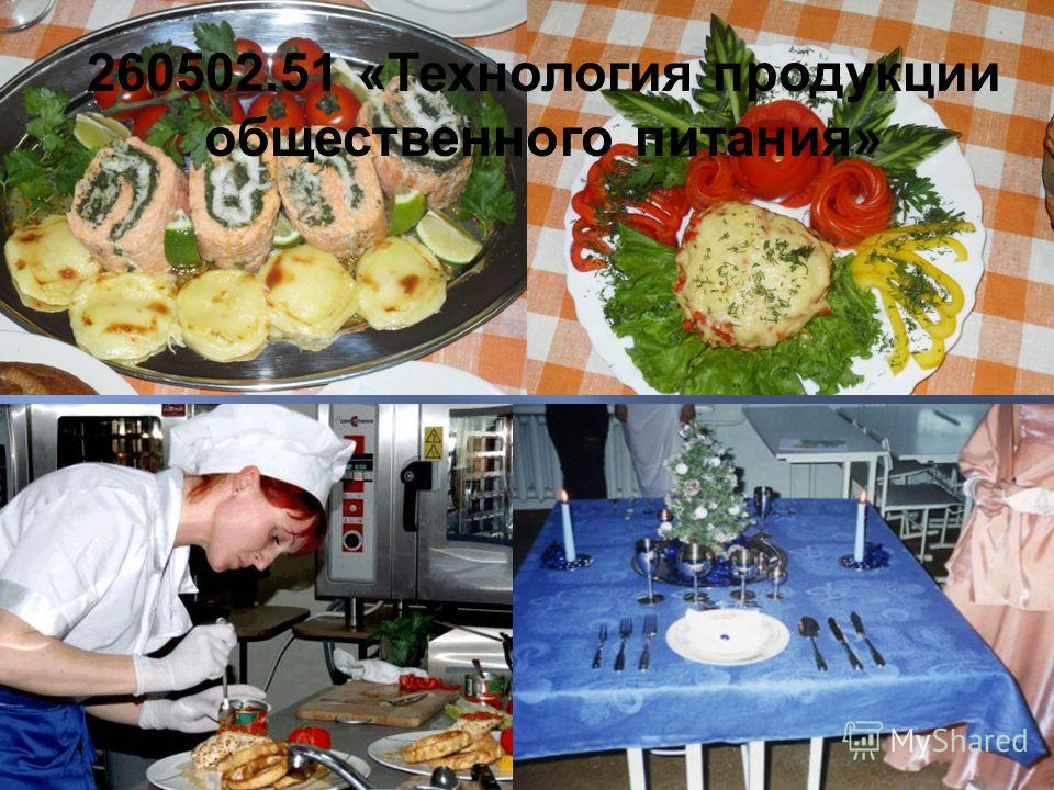260502.51 « Технология продукции общественного питания »