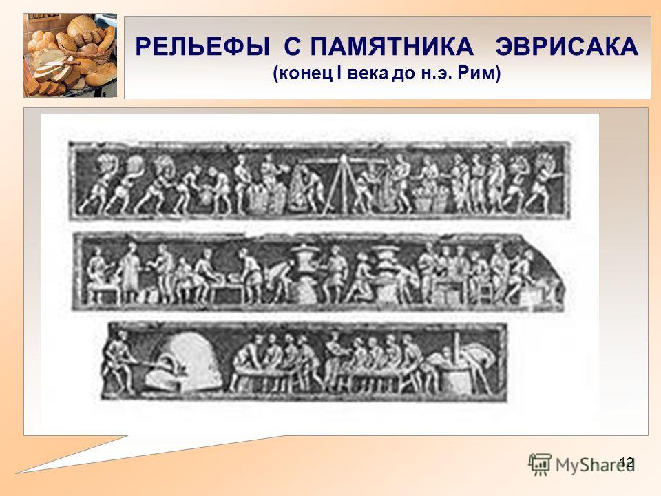 РЕЛЬЕФЫ С ПАМЯТНИКА ЭВРИСАКА (конец I века до н.э. Рим) 12