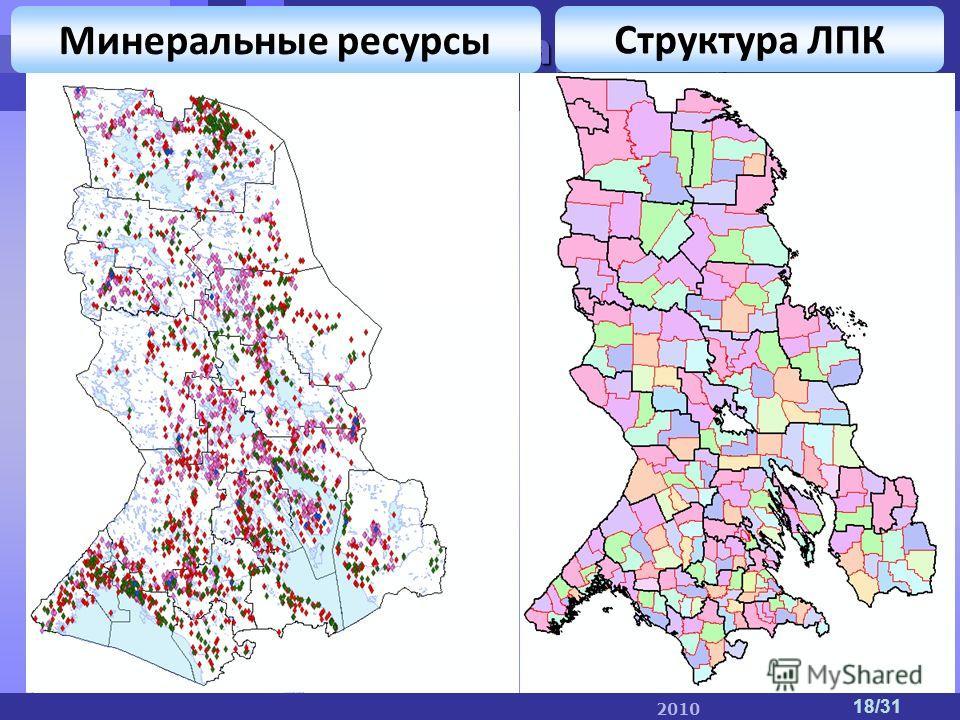 ПетрГУ IT-парк IT-парк ПетрГУ 2010 18/31 Минеральные ресурсы Структура ЛПК