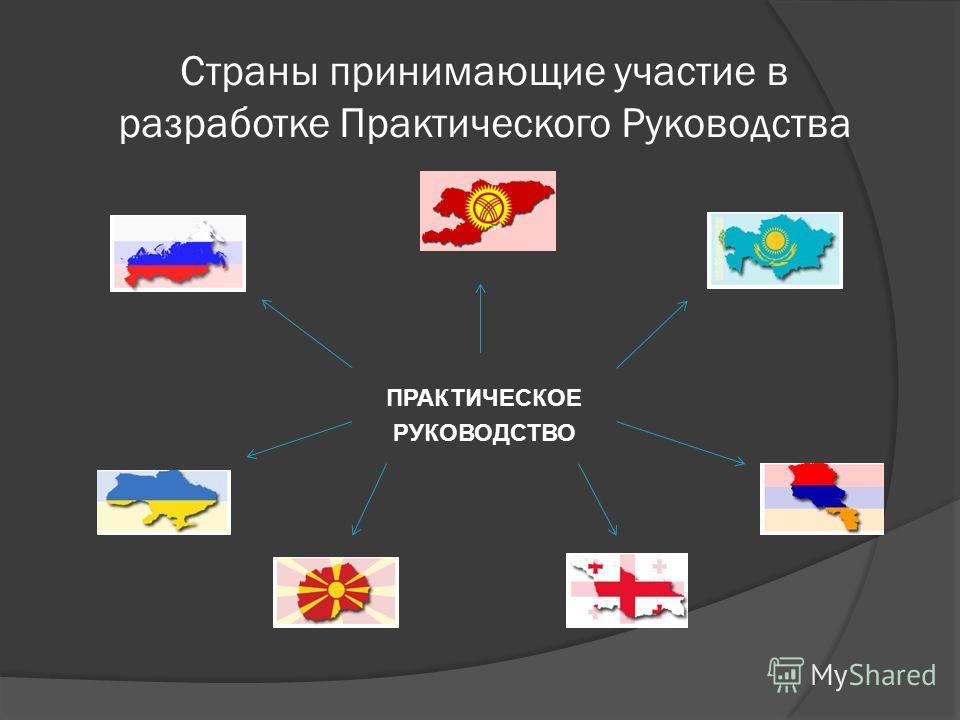 Страны принимающие участие в разработке Практического Руководства ПРАКТИЧЕСКОЕ РУКОВОДСТВО