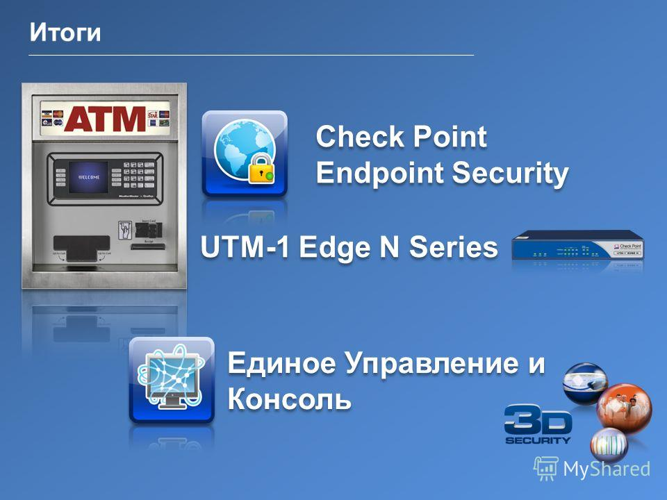 26 ©2011 Check Point Software Technologies Ltd. | [Restricted] ONLY for designated groups and individuals | Check Point Endpoint Security Единое Управление и Консоль UTM-1 Edge N Series