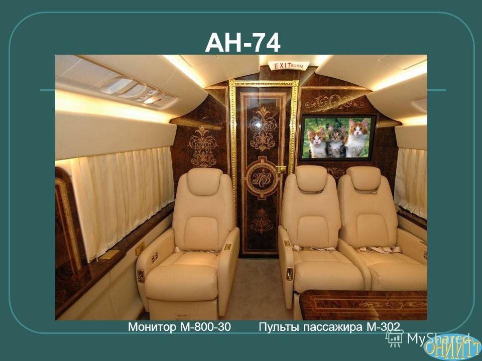 АН-74 Монитор М-800-30 Пульты пассажира М-302