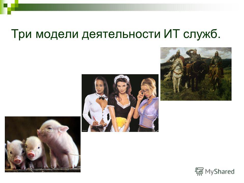 Три модели деятельности ИТ служб.