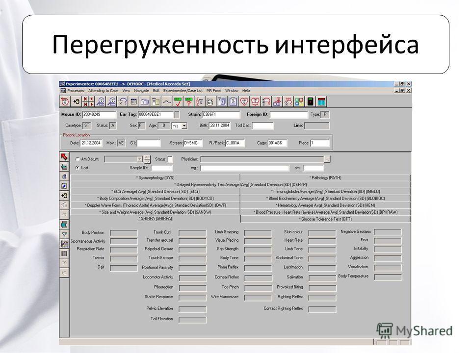Перегруженность интерфейса