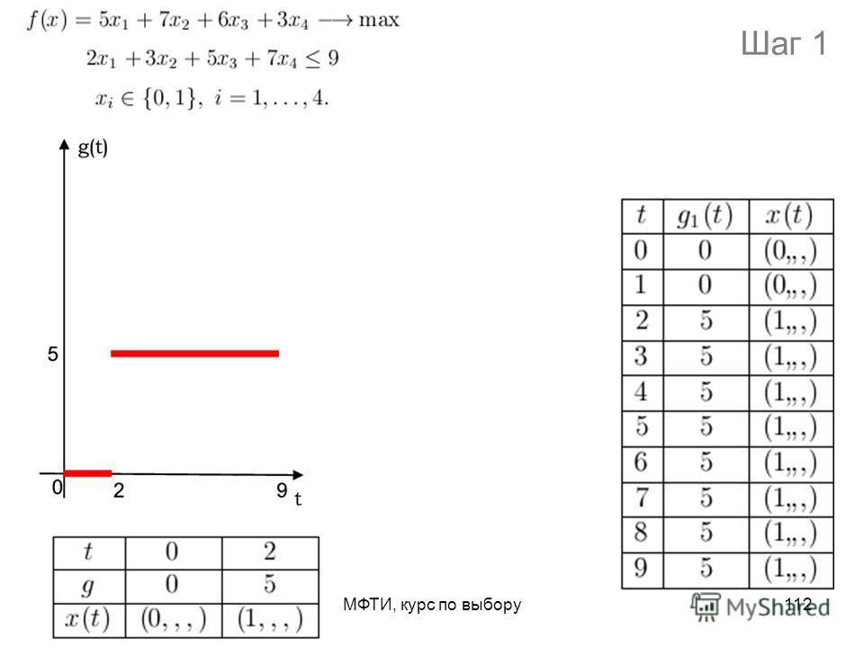 МФТИ, курс по выбору112 Шаг 1