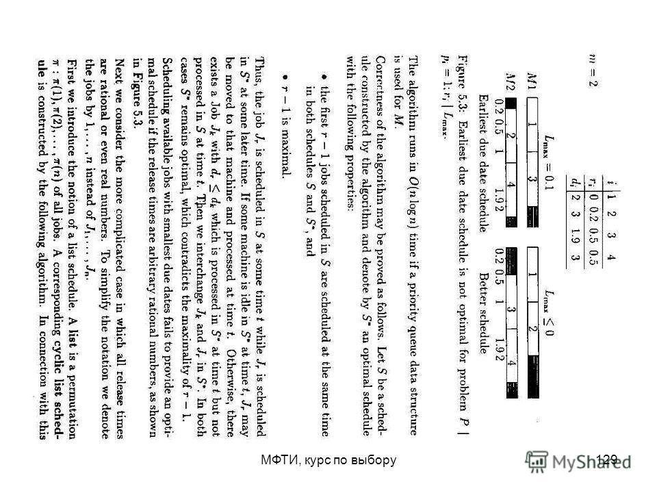 МФТИ, курс по выбору129