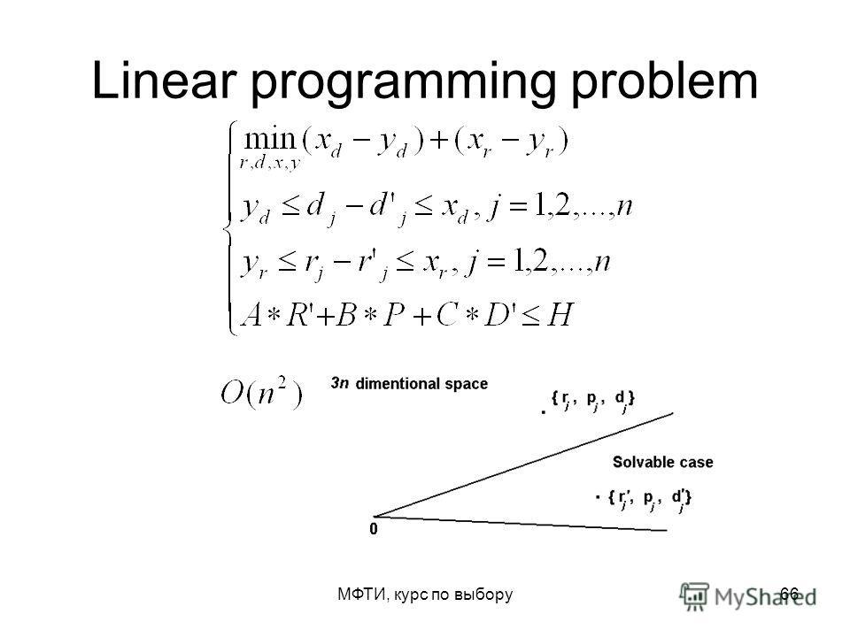 МФТИ, курс по выбору66 Linear programming problem