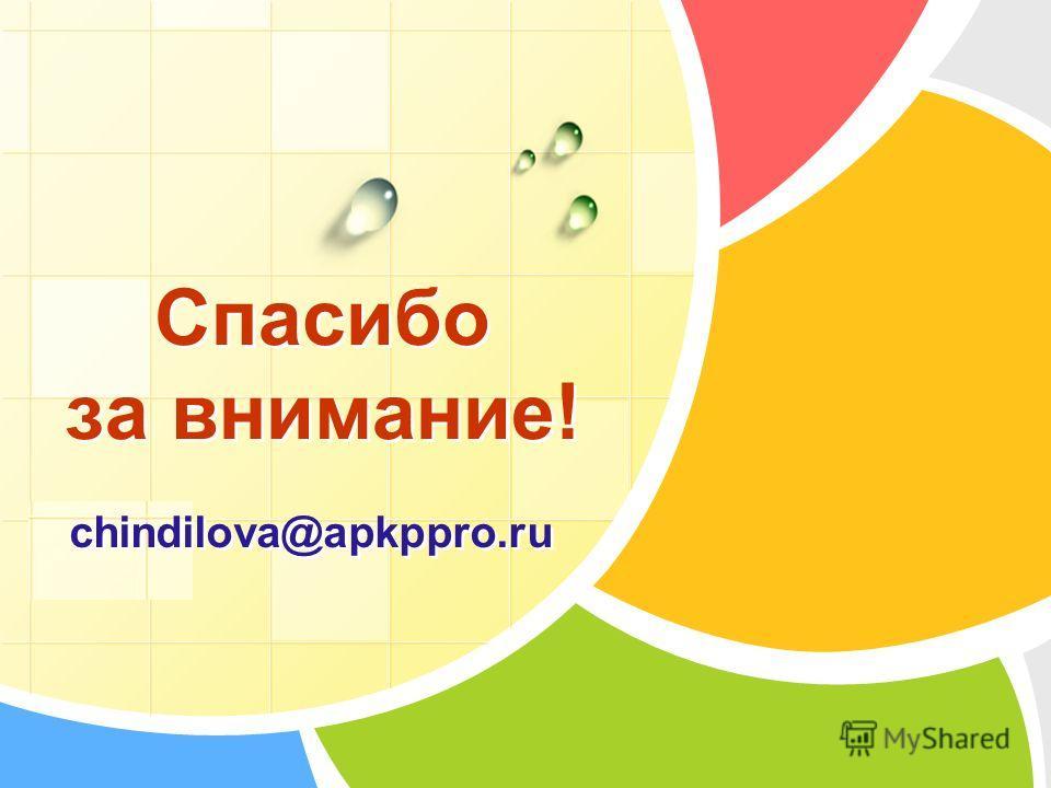 L/O/G/O Спасибо за внимание! chindilova@apkppro.ru