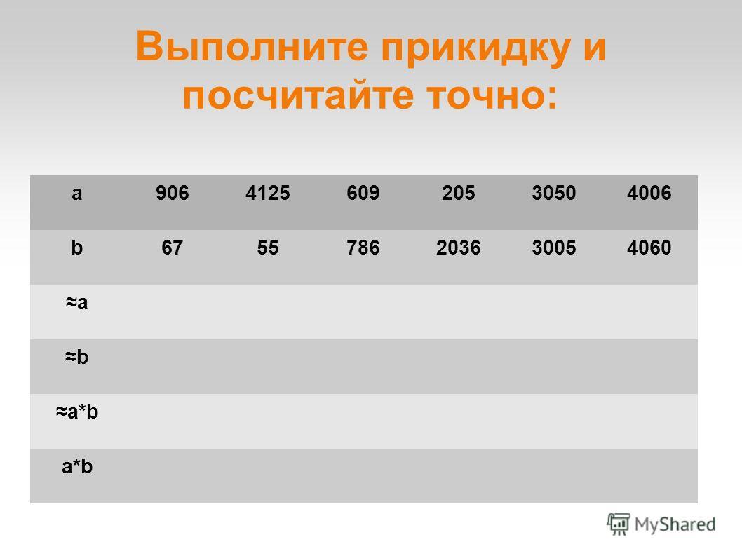 Выполните прикидку и посчитайте точно: a906412560920530504006 b6755786203630054060 a b a*b