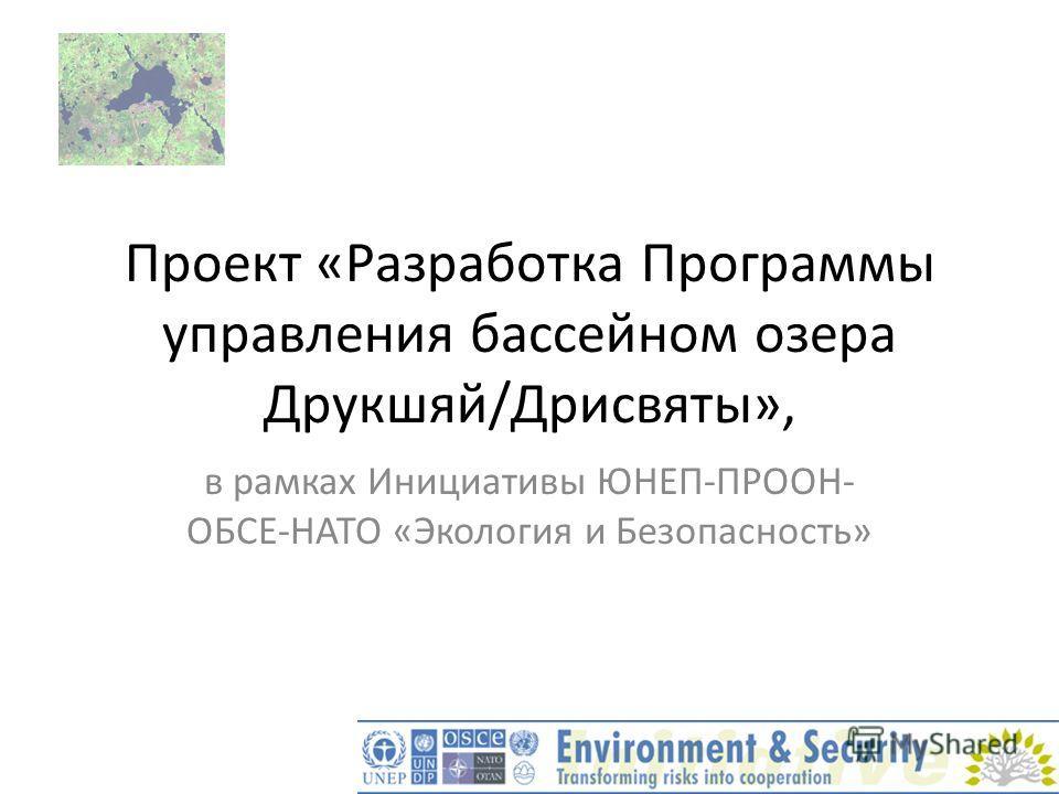 Проект «Разработка Программы управления бассейном озера Друкшяй/Дрисвяты», в рамках Инициативы ЮНЕП-ПРООН- ОБСЕ-НАТО «Экология и Безопасность»