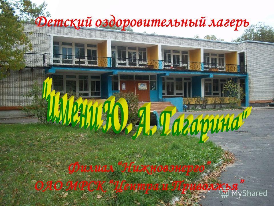 Детский оздоровительный лагерь Филиал Нижновэнерго ОАО МРСК Центра и Приволжья
