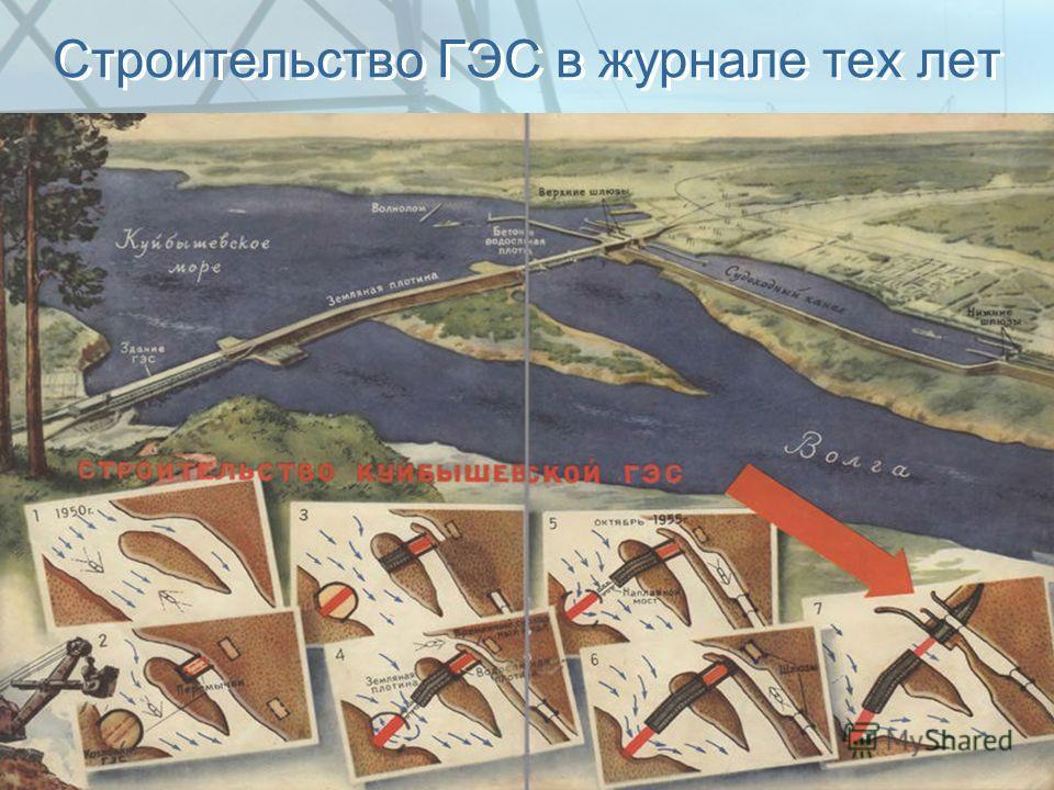 Строительство ГЭС в журнале тех лет