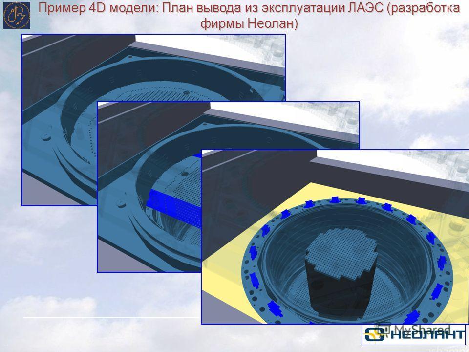 Пример 4D модели: План вывода из эксплуатации ЛАЭС (разработка фирмы Неолан)