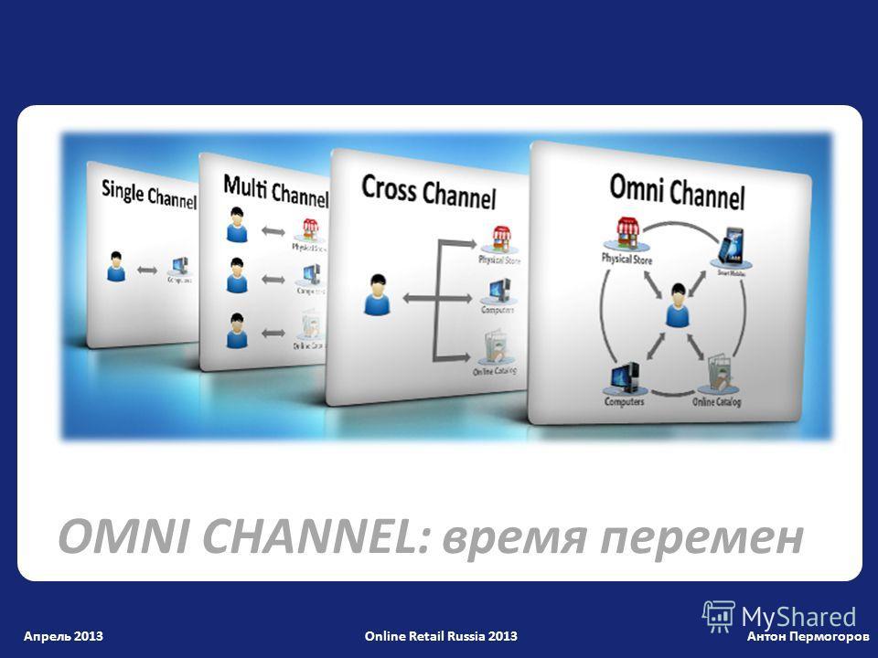 Антон Пермогоров OMNI CHANNEL: время перемен Апрель 2013 Online Retail Russia 2013