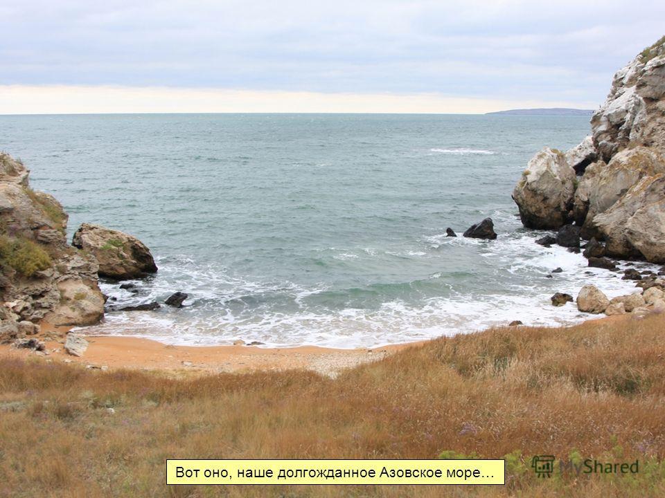 Вот оно, наше долгожданное Азовское море…