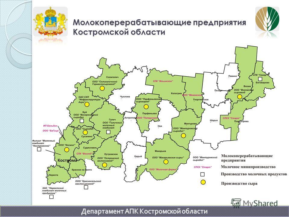 Молокоперерабатывающие предприятия Костромской области