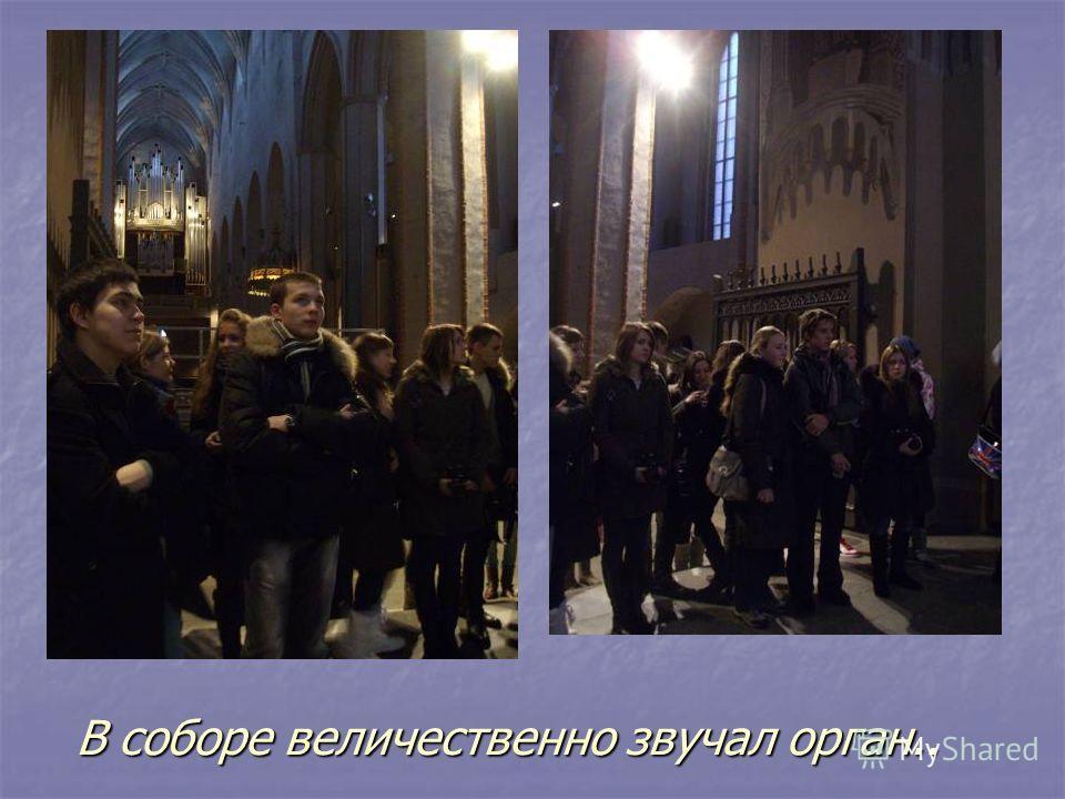 В соборе величественно звучал орган..