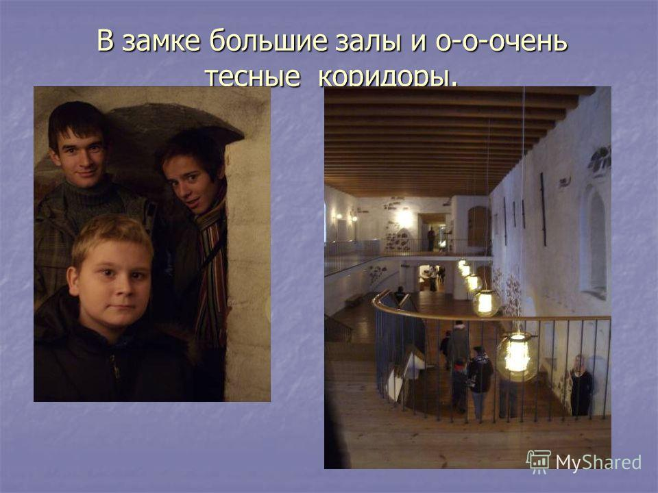 В замке большие залы и о-о-очень тесные коридоры.