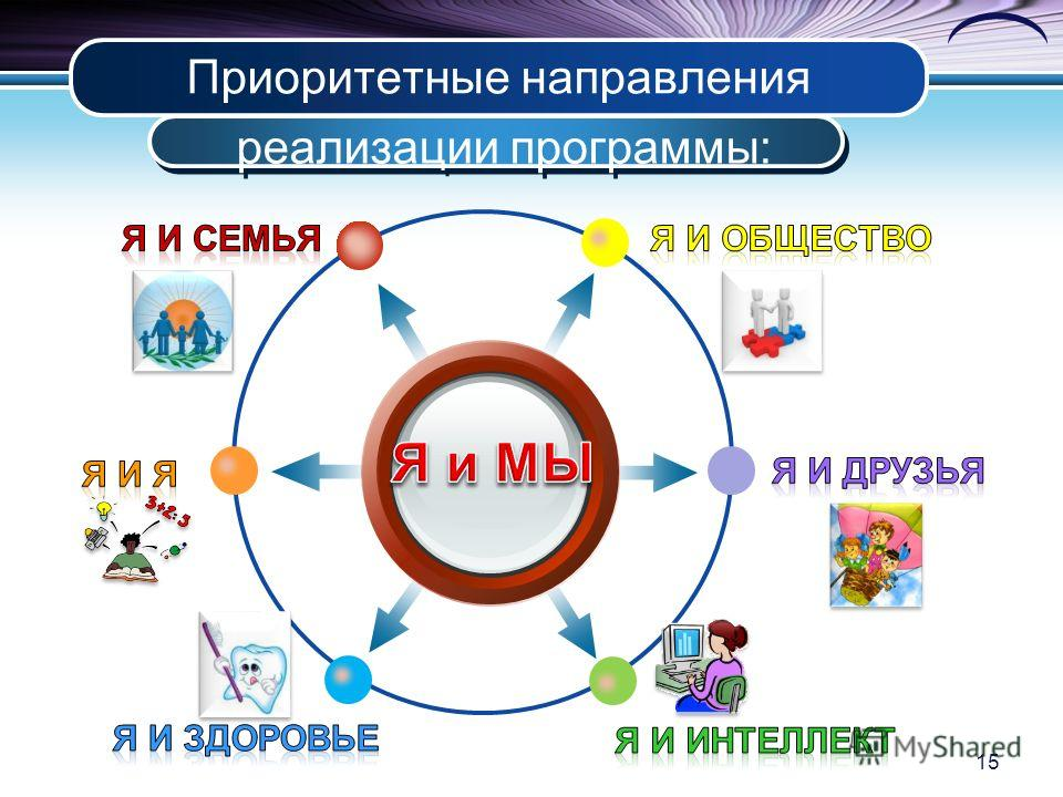 Приоритетные направления реализации программы: 15