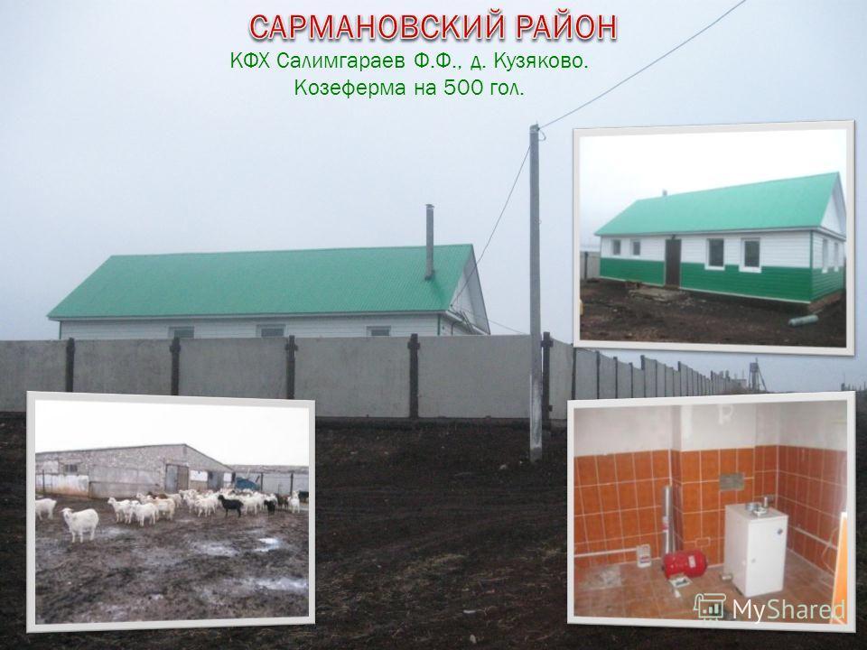 КФХ Салимгараев Ф.Ф., д. Кузяково. Козеферма на 500 гол.