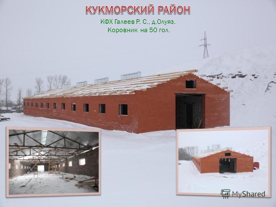 КФХ Галеев Р. С., д.Олуяз. Коровник на 50 гол.