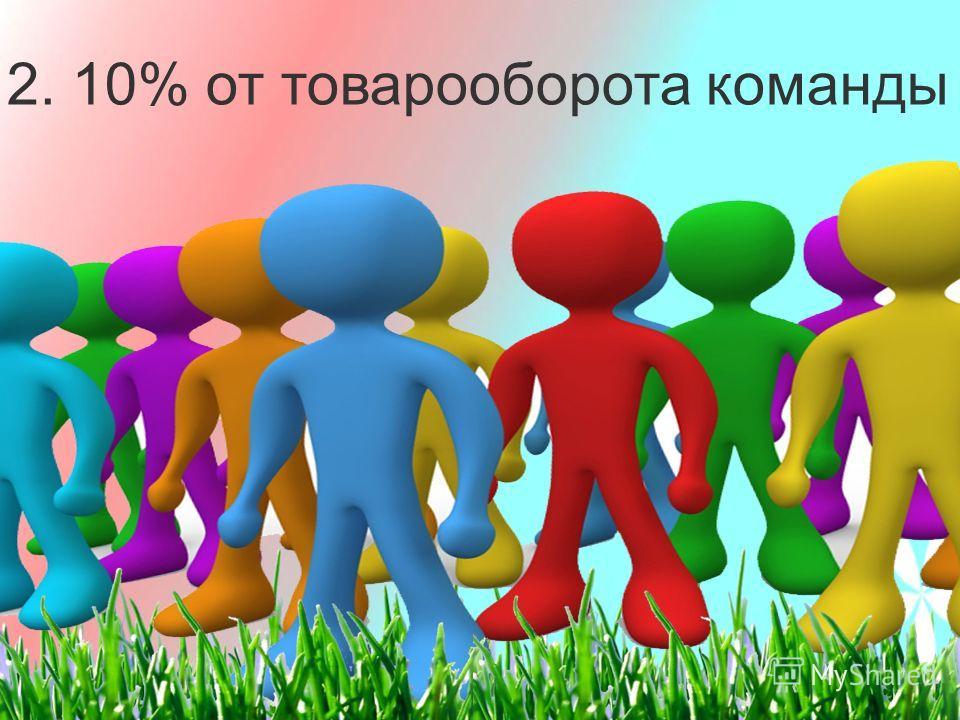 2. 10% от товарооборота команды