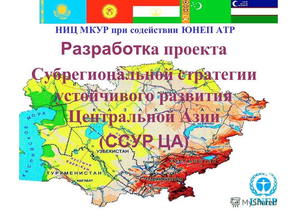 НИЦ МКУР при содействии ЮНЕП АТР Разработк а проекта Субрегиональной стратегии устойчивого развития Центральной Азии ( ССУР ЦА )