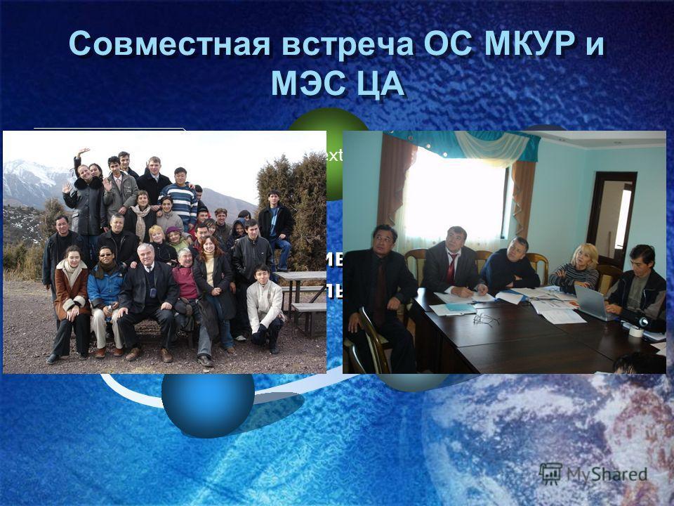 Text Активная деятельность Совместная встреча ОС МКУР и МЭС ЦА