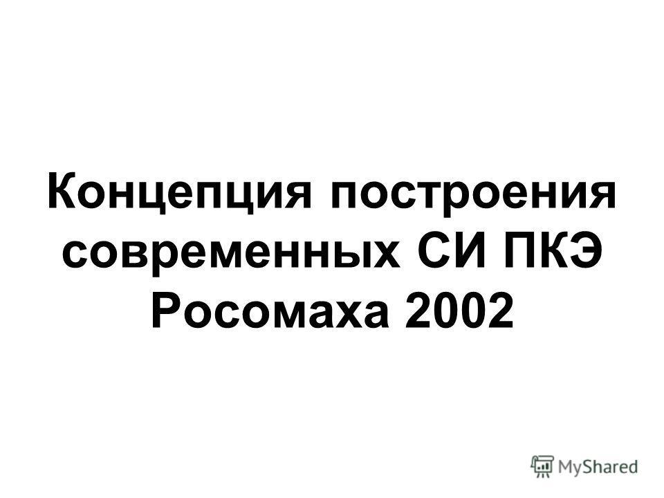 Концепция построения современных СИ ПКЭ Росомаха 2002