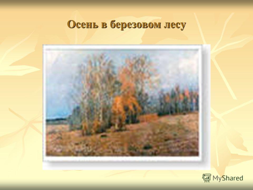 Осень в березовом лесу