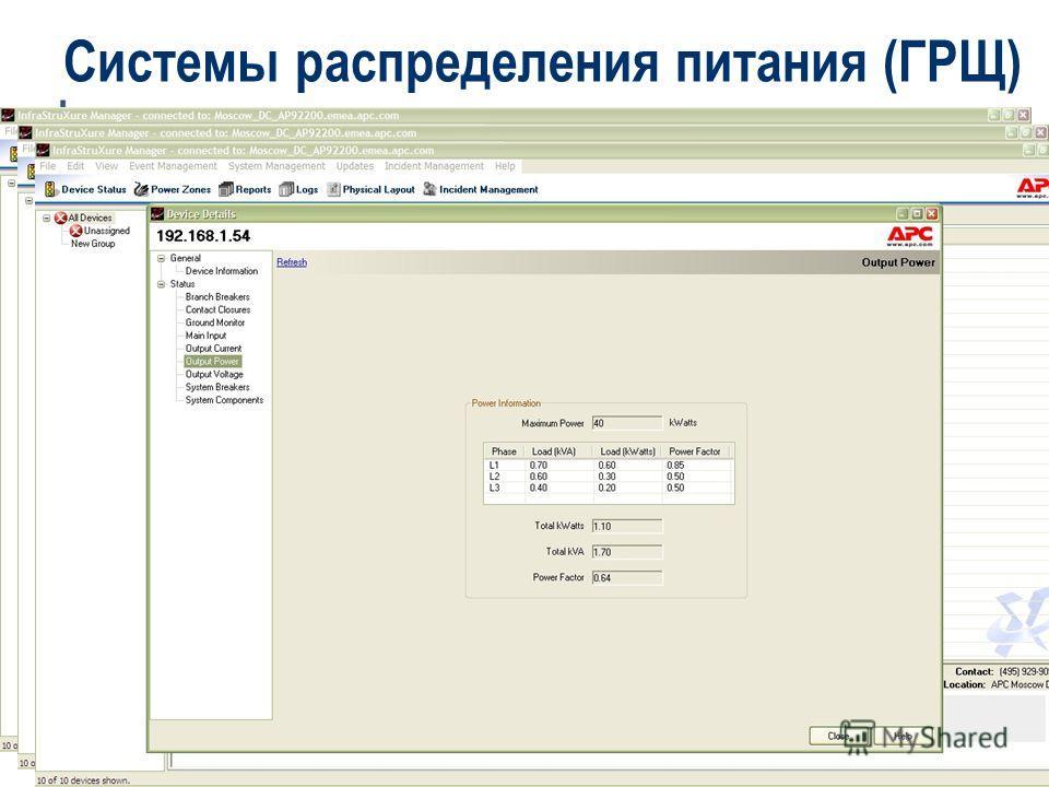 Critical Power & Cooling Services – APC-MGE - 2007 Системы распределения питания (ГРЩ)